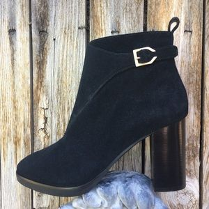 NWT Cole Haan Harrington Riding Boot Suede Black 9